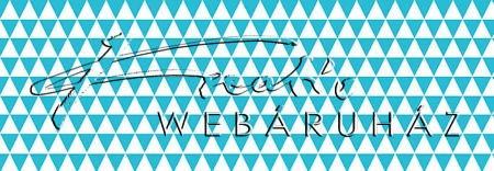 Halványkék háromszögek, mintás karton