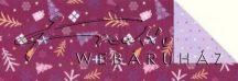 Kartonpapír - Karácsonyi varázslat Csomagolópapír mintás Karton, apró fenyőfák
