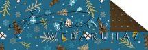 Kartonpapír - Karácsonyi varázslat Csomagolópapír mintás Karton, apró fenyőfák, ajándékok