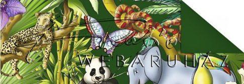 Kartonpapír - Mesevilág Dzsungel állatai mintás karton, 29,5x20cm, 1 lap