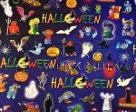 Kartonpapír - Halloween, rémisztő szörnyek, szellemek mintás Karton, 300 g, 1 lap