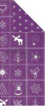 Karácsonyi lila motívumok, karton