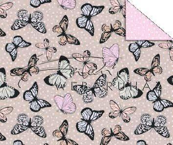 Vintage pillangók, karton 29,5x20cm