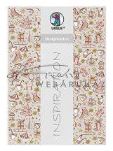 Kartonpapír csomag - Karácsonyi aranyos és rózsaszínes díszek minta - A4, 5lap/csomag
