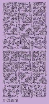 Sötét Rózsaszín Virágos sarok, Peel-Off