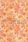 Domborított papír - Narancssárga rózsa mintás
