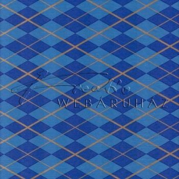Selyempapír - Arany-kék rombusz