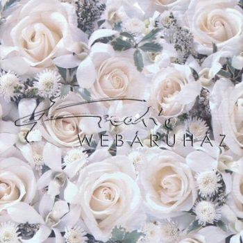 Selyempapír - Fehér rózsa